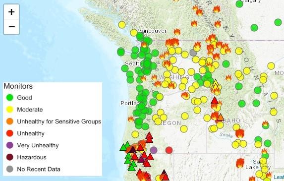 Oregon Smoke Information Smoke Forecast For Eastern Oregon Through