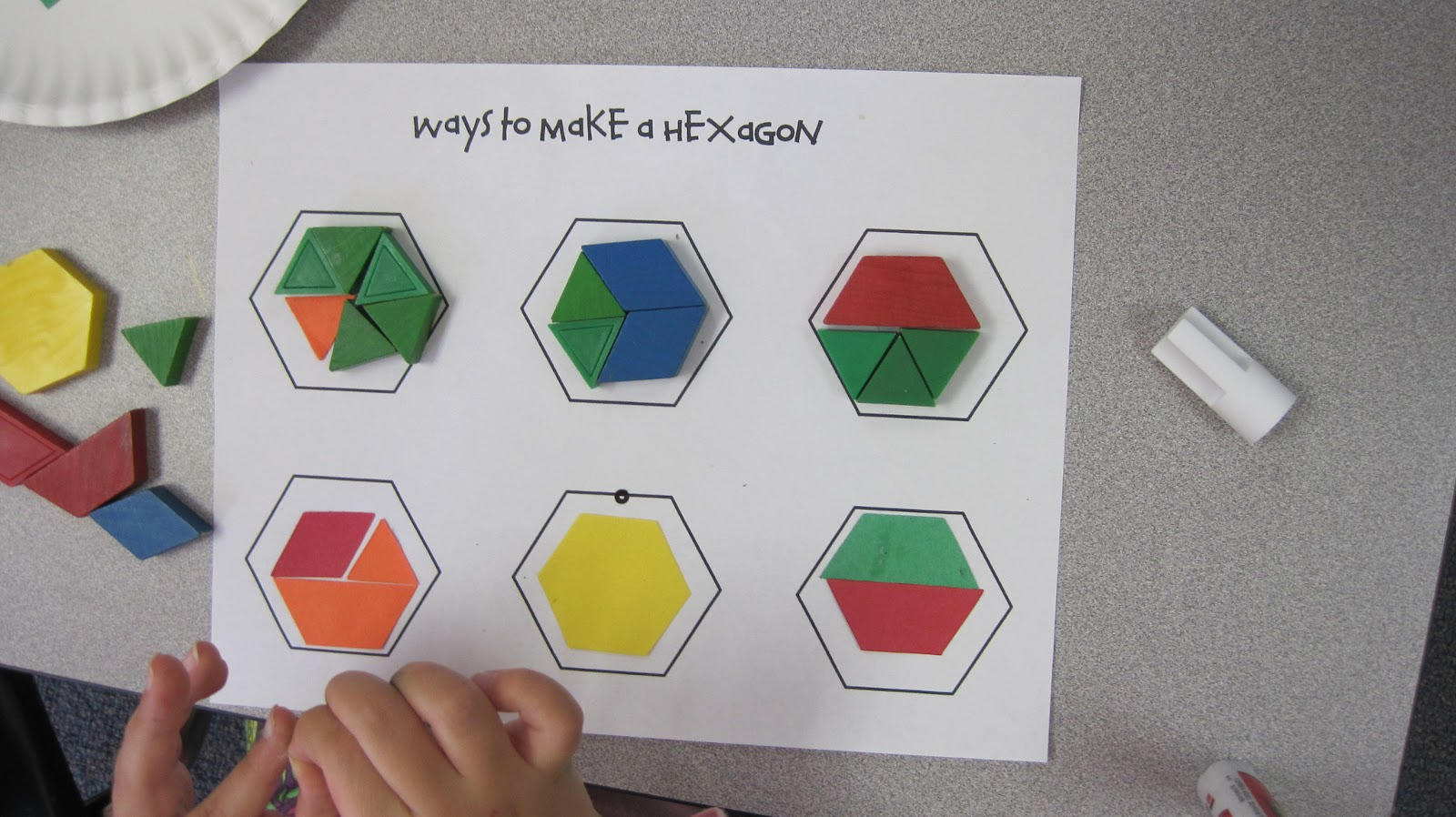 Kindergarten Superkids Ways To Make A Hexagon