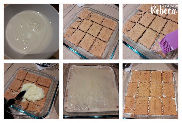 Receta de tarta de galletas y crema 01