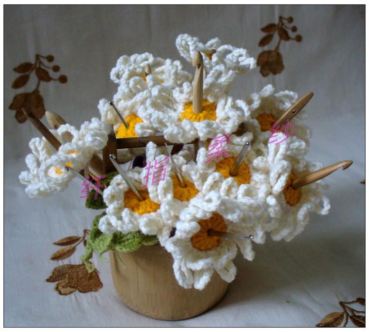 Florero Organizador Ganchos de Crochet