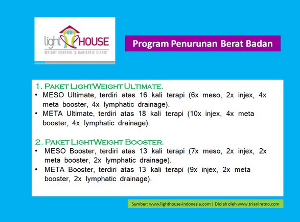 Program penurunan berat badan LightHOUSE Indonesia.