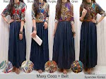 Gamis Spandex Denim SOLD OUT