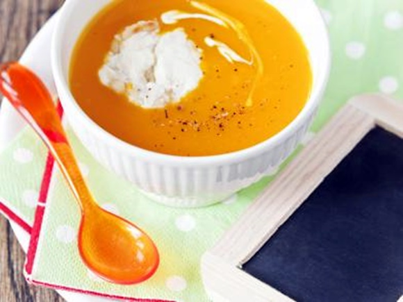 Soupe De Potimarron Glaçon De Mascarpone Au Parmesan