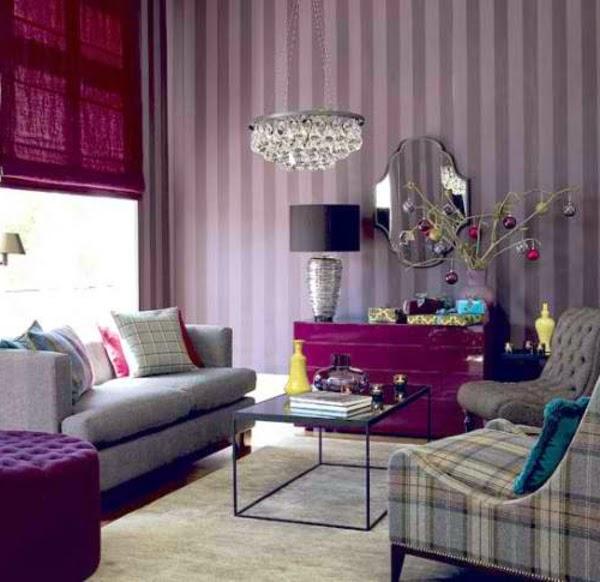 Salas de color morado y gris salas con estilo for Decoracion de interiores con gris
