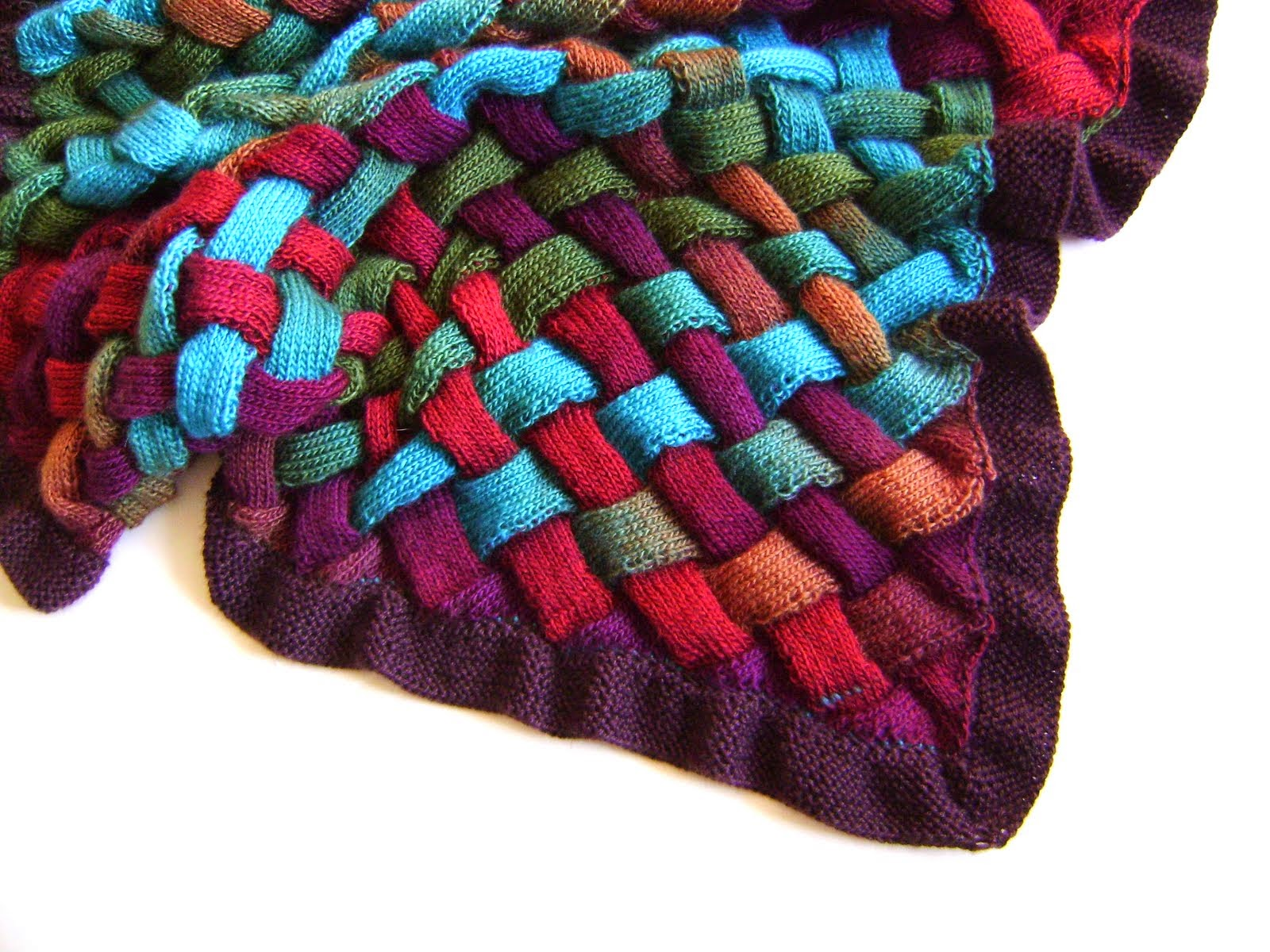 Knit an Entrelac Blanket $5.00