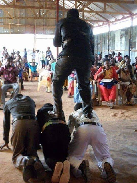 See A New Church In Tz,pastor Must Not Touch Ground Until End Of Service.