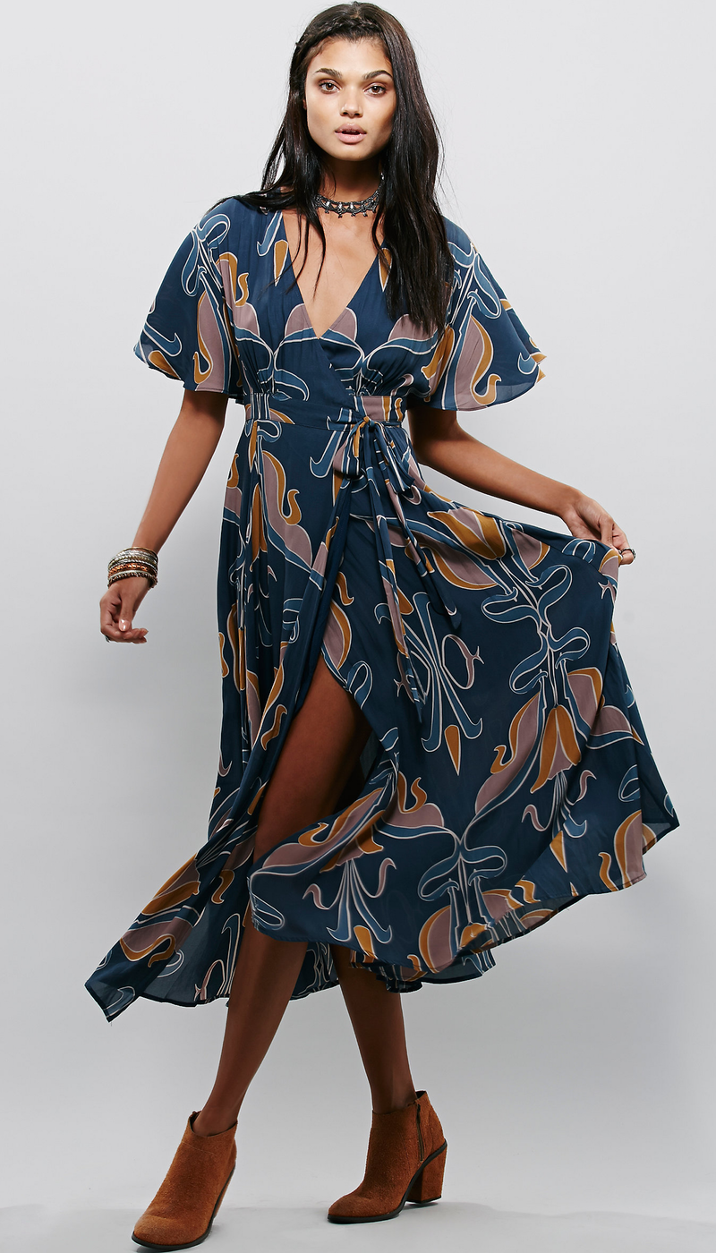 Free People Sweet Escape Wrap Maxi