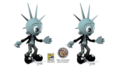San Diego Comic-Con 2018 Exclusive Moe Hawk Mono Edition Vinyl Figure by KRK Ryden x 3DRetro