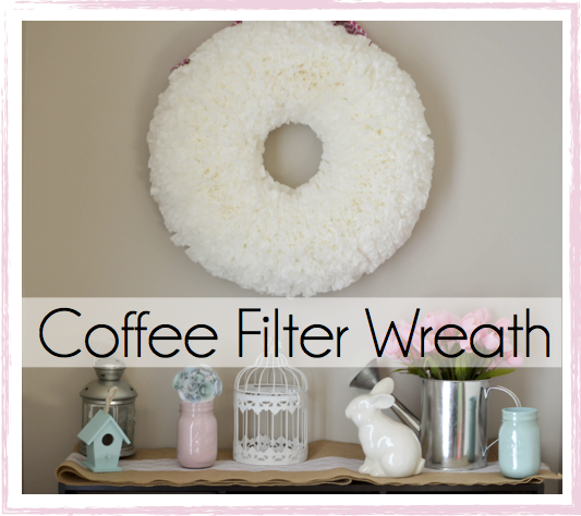 How to Make Your Own Coffee Filter Wreath | Modern Day Homemaker