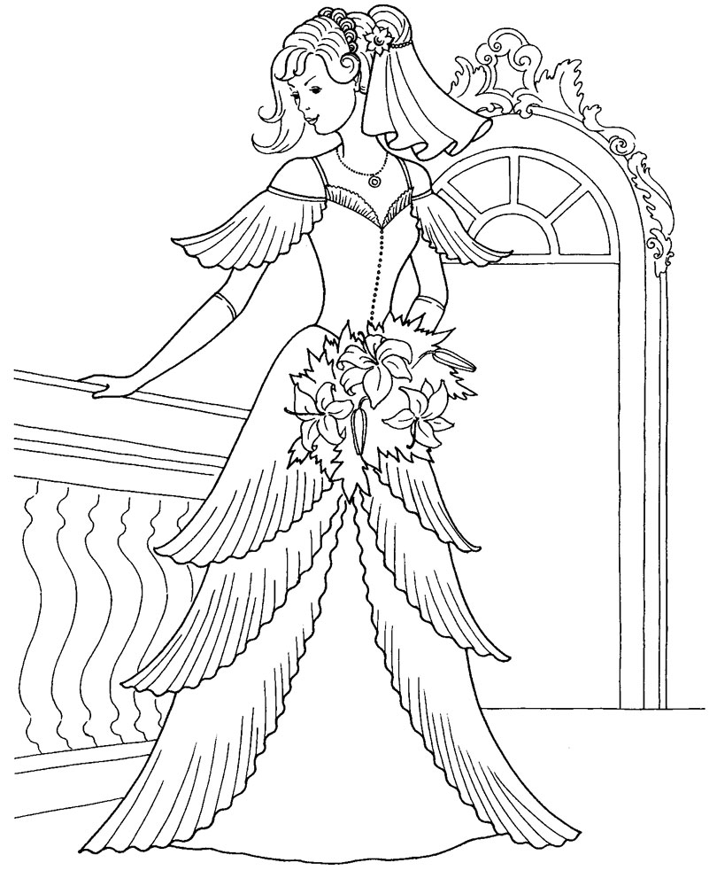 Скоро Праздник: Раскраски Принцессы