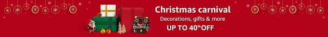 Christmas Carnival: Upto 40% Off on Decorations, Gifts and more amazon.in