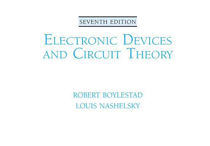 Electronic Devices And Circuits Ebook Pdf Download | #1