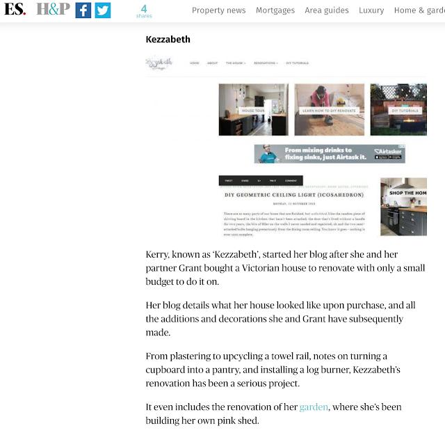 Kezzabeth Evening Standard
