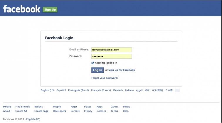 Www facebook homepage login find friends