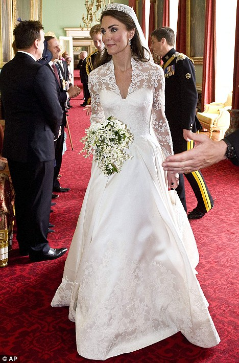 Designer Sarah Burton Managed To Keep Her Involvement With The Creation Of Kate S Ivory Lace And Silk Dress A Secret From Closest Friends Family