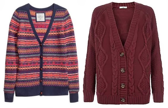 H&M and New Look cardigans