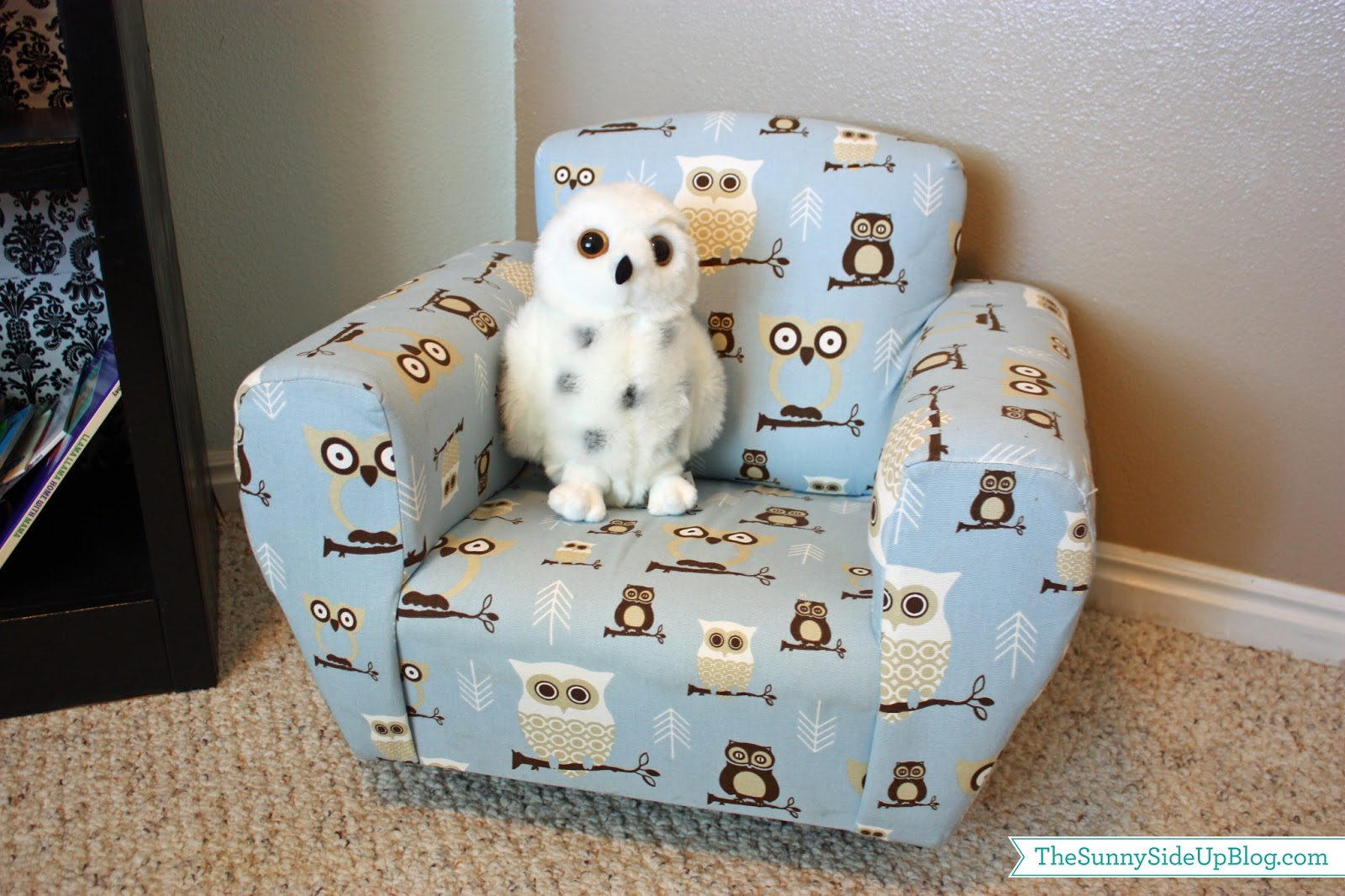 owl chair for kids accent swivel chairs decorating on a budget fun ideas the sunny side up blog