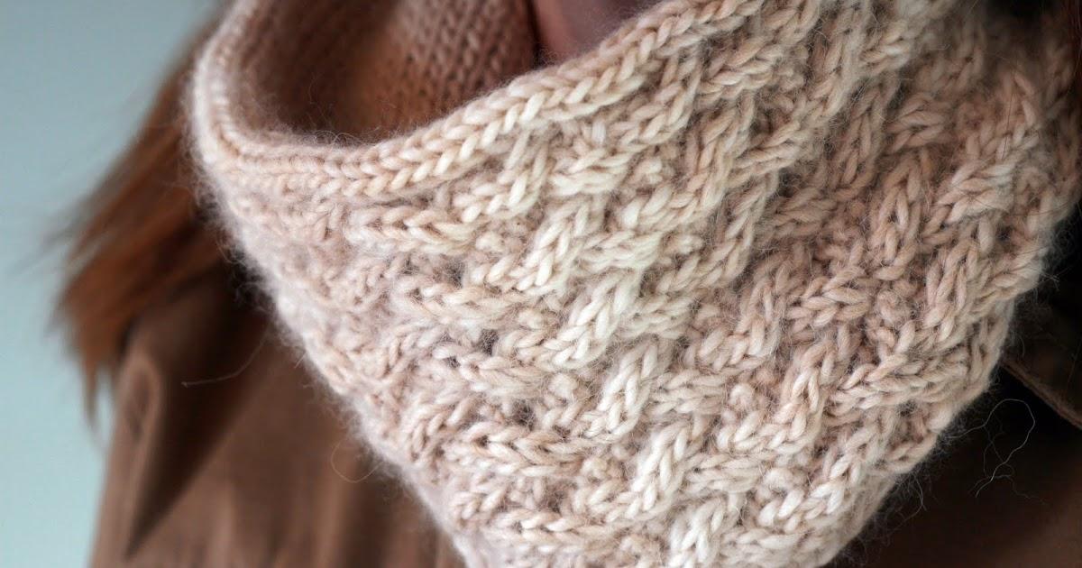Kate Preston Handknits Blog Update Lattice Stitch Cowl
