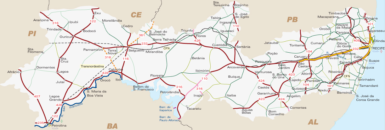 #Pernambuco | Mapas Geográficos de Pernambuco
