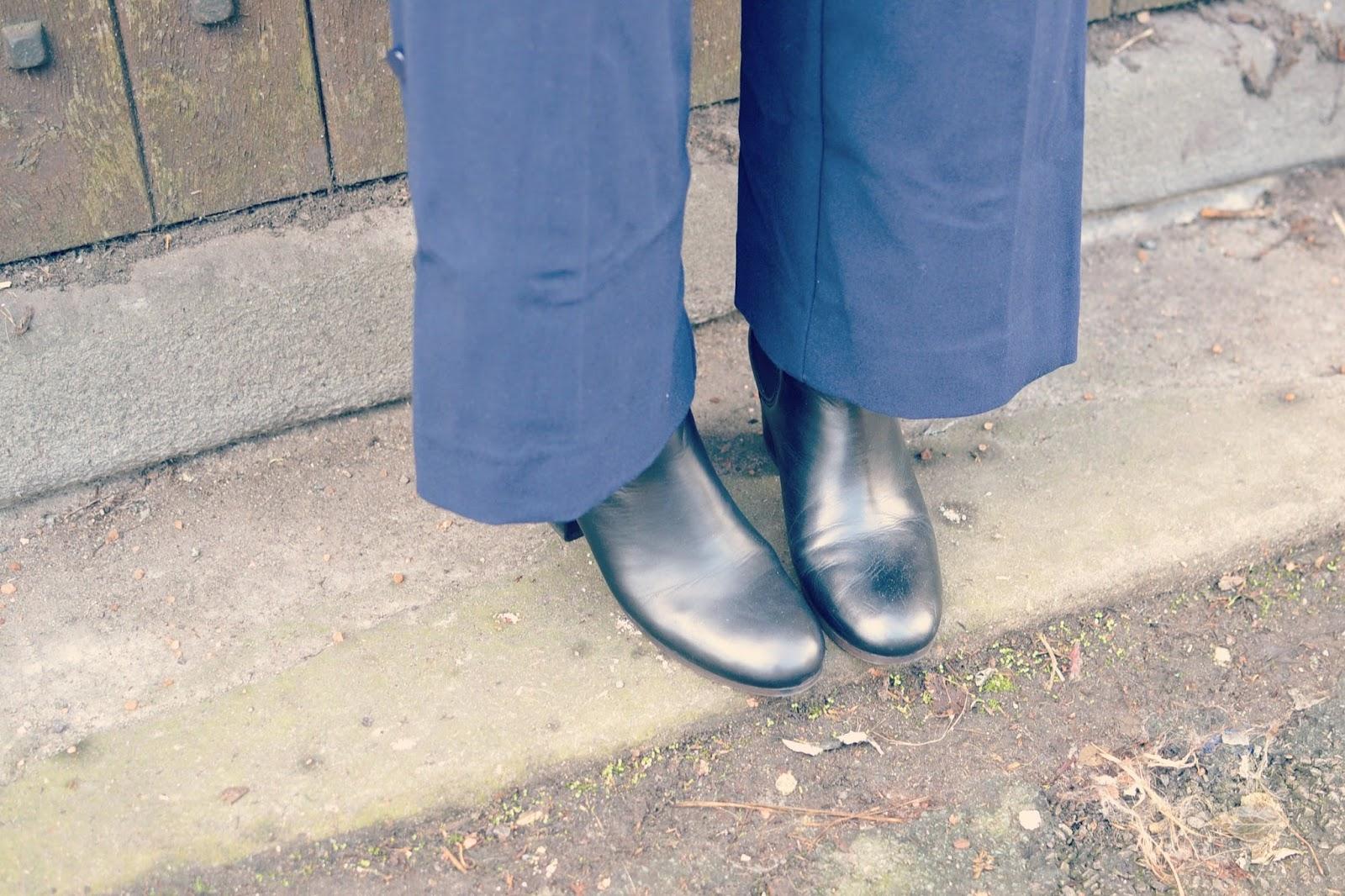 Topshop Megan boots ASOS culottes