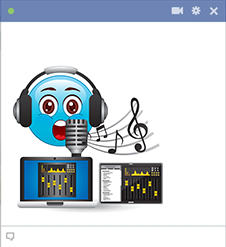 DJ emoji for Facebook