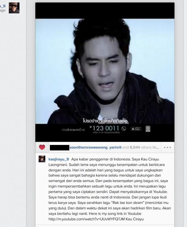 Download Lagu Thanks You Next: Kao Jirayu Mengeluarkan Single Terbaru Dan Menyapa Fans Di