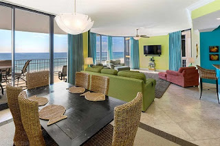Marseilles Condo For Sale Unit 502 Living Room and Dining Room, Orange Beach AL Real Estate