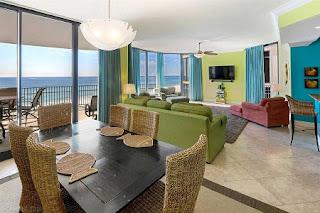 Marseilles Condo For Sale Unit 502 Living Room and Dining Room, Orange Beach AL Real Estate