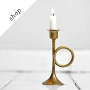Vintage brass candle holder | ThingsWithSoul