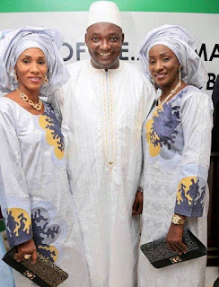 Gambian's New President, Barrow And 2 First Ladies