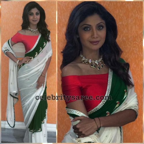 Shilpa Shetty's Latest Designer Sarees2