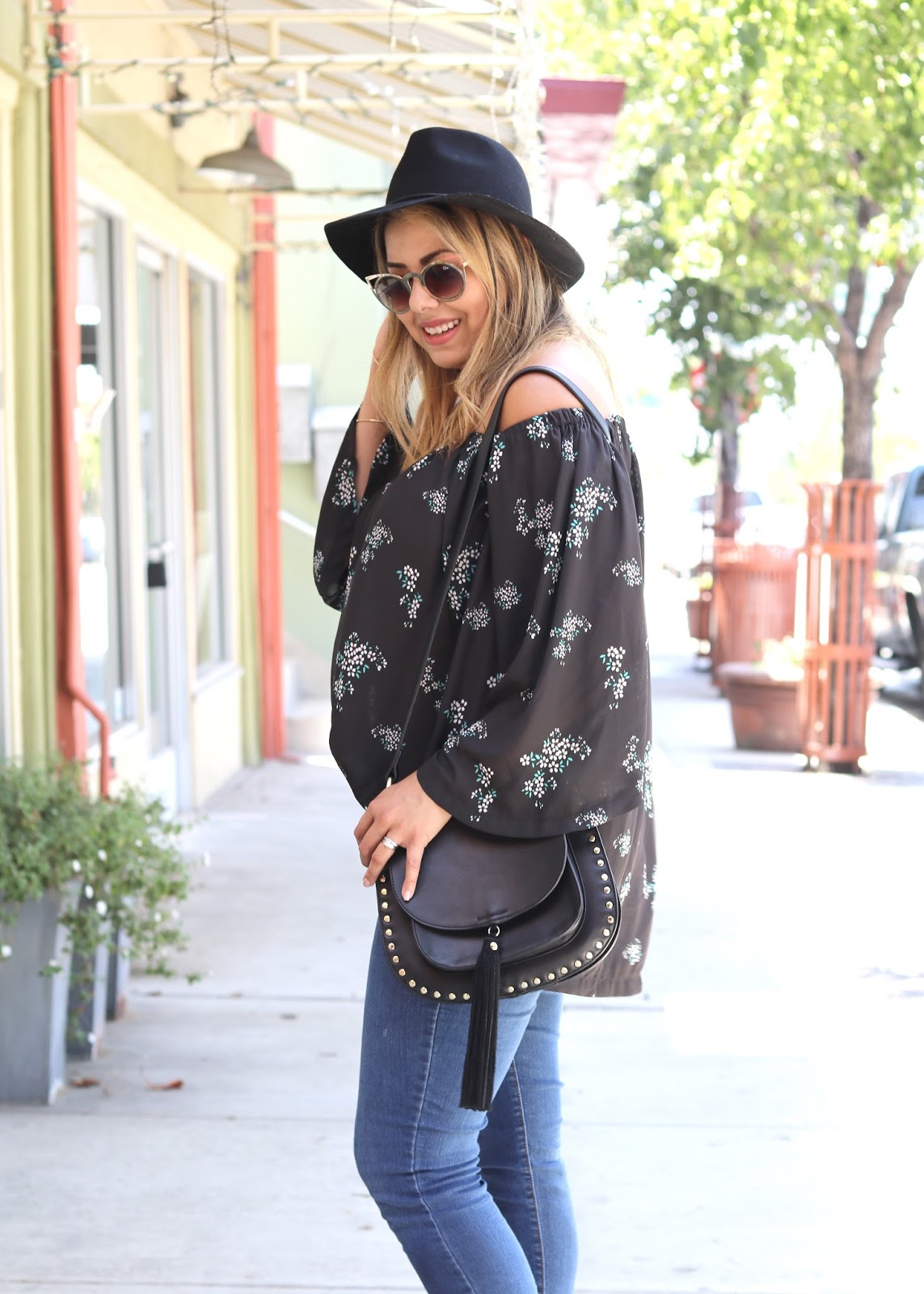 north park san diego outfit, casual hat outfit, black felt merona hat, target hat outfit