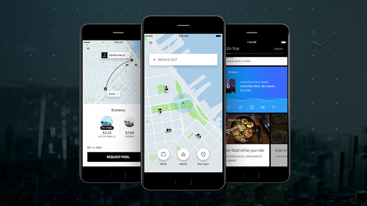 Ultimate update to uber app with lots of new features