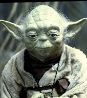 Yoda's not ashamed of my frugal flops: BrownThumbMama.com