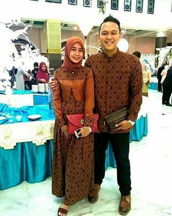 Model Baju Batik Couple Gamis Yang Terbaru