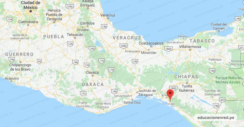 Temblor en México de Magnitud 4.4 (Hoy Lunes 01 Junio 2020) Sismo - Epicentro - Tonalá - Chiapas - CHIS. - SSN - www.ssn.unam.mx