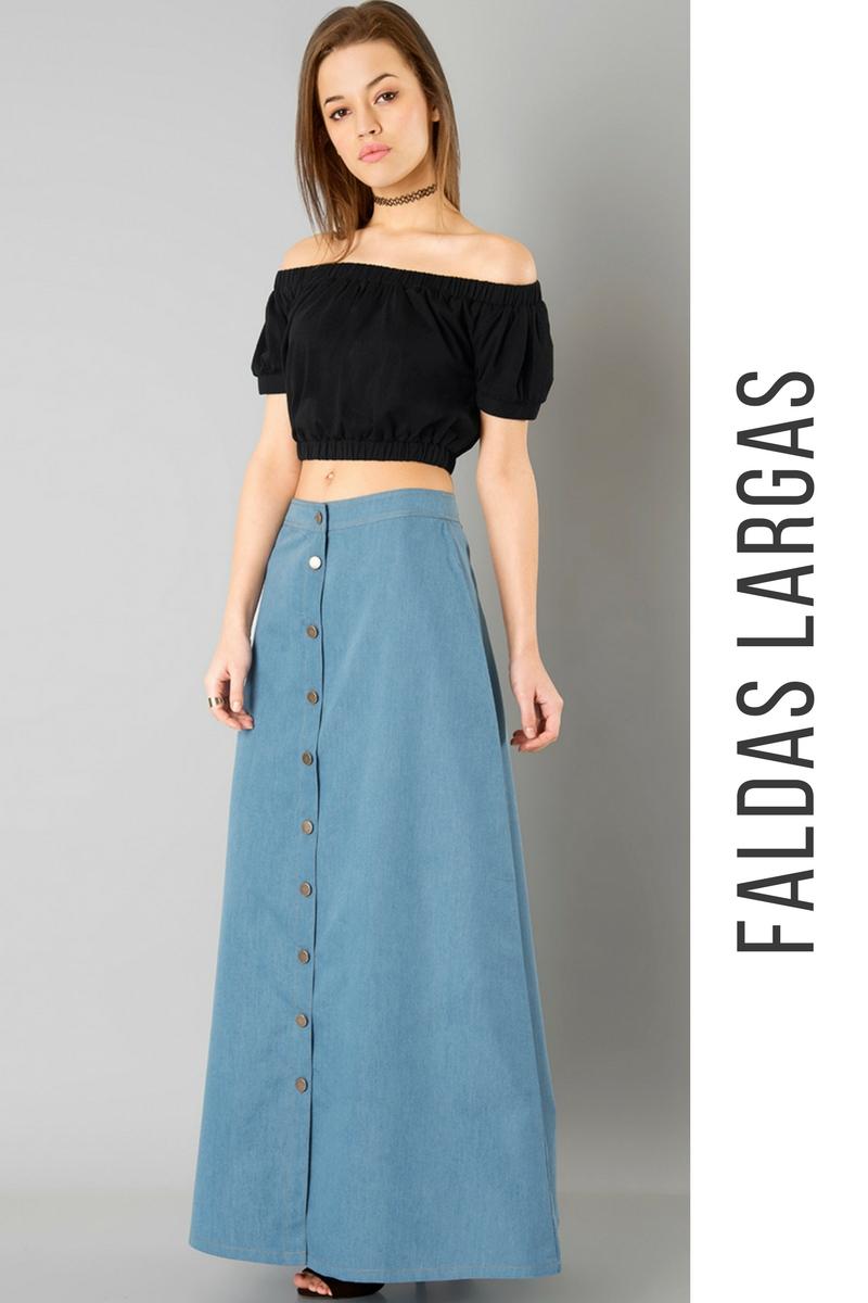d95b11c16 56 Faldas Largas ¡Inspiración e Ideas Originales!   Faldas   Moda ...