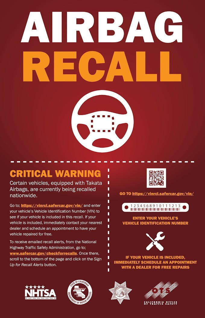 Airbag Recall! Don't Risk Your Safety!