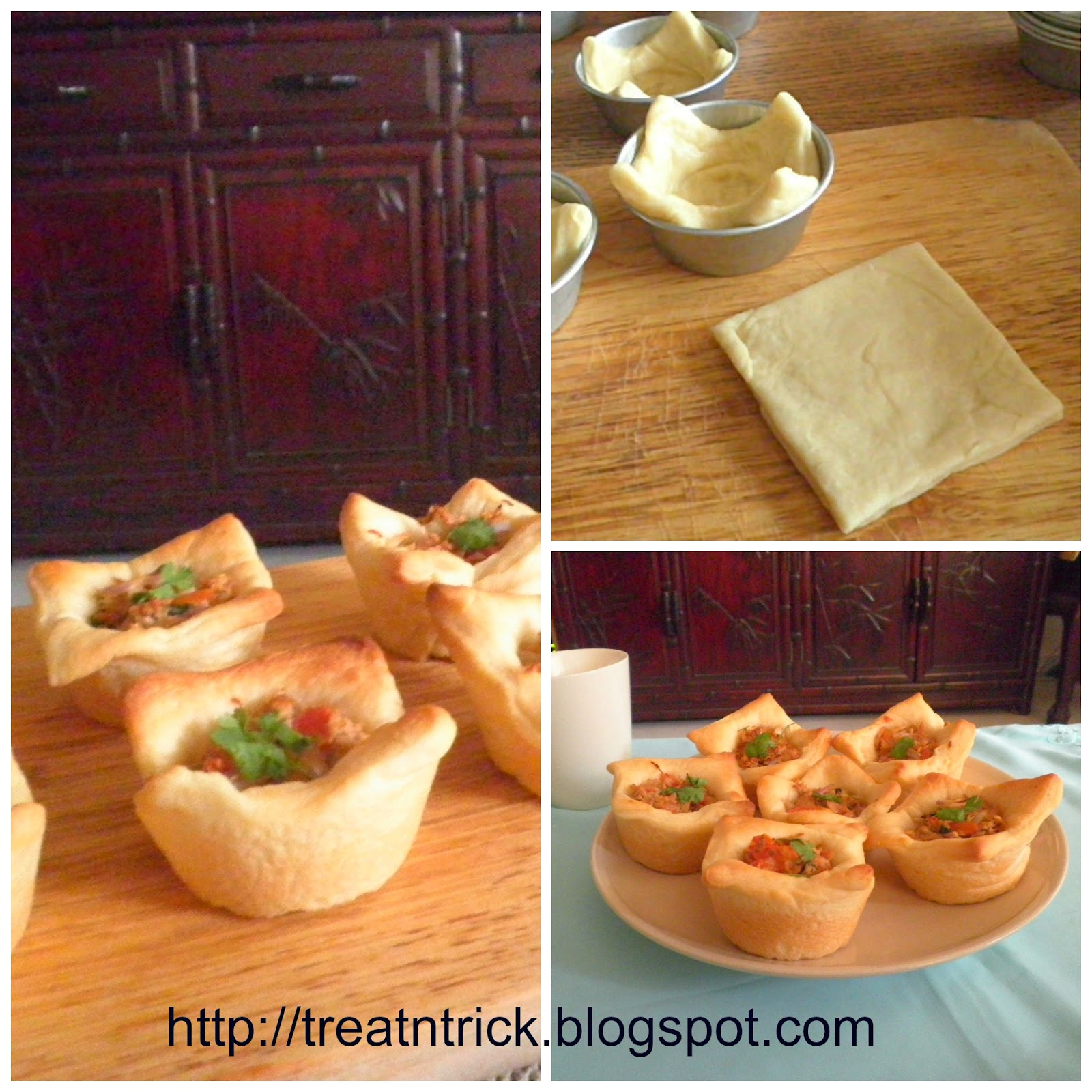 Tuna Pizza Cups using pizza dough