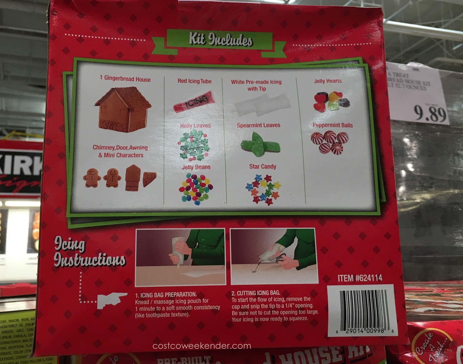 Create A Treat Pre Built Gingerbread House Kit Costco