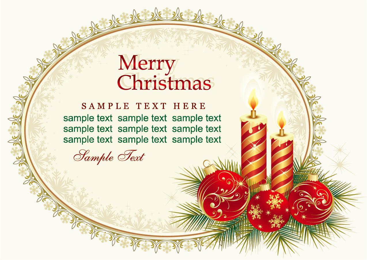 カード クリスマスカード 素材 テンプレート : Free Vector がらくた素材庫 ...