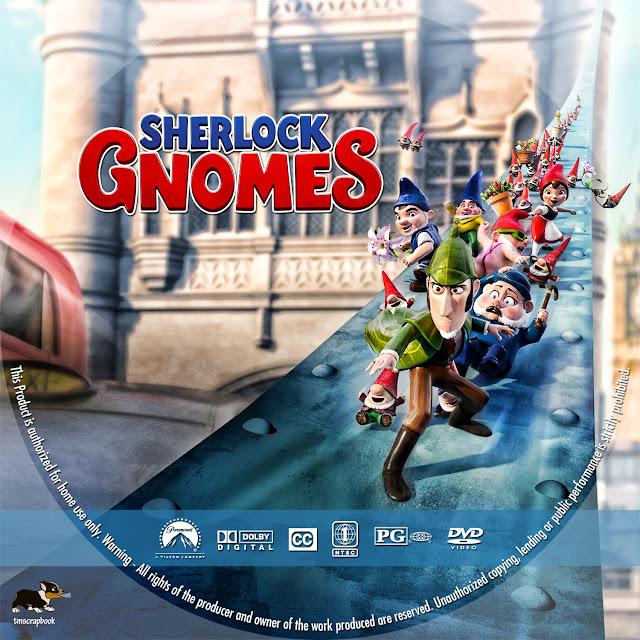 Sherlock Gnomes DVD Label