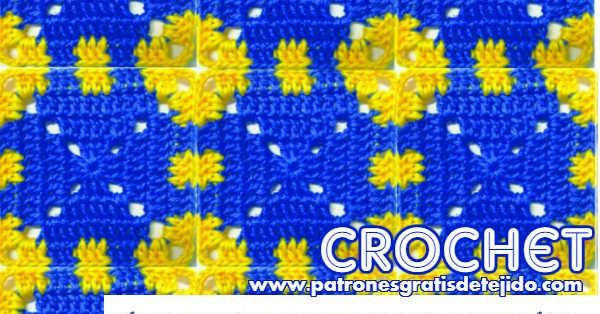 C mo tejer una manta floral al crochet muy f cil paso a - Como tejer mantas al crochet ...