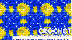 Cómo tejer una manta floral al crochet muy fácil / Paso a paso