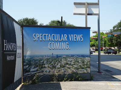 """Hanover Montrose promotional banner: """"Spectacular Views Coming"""""""
