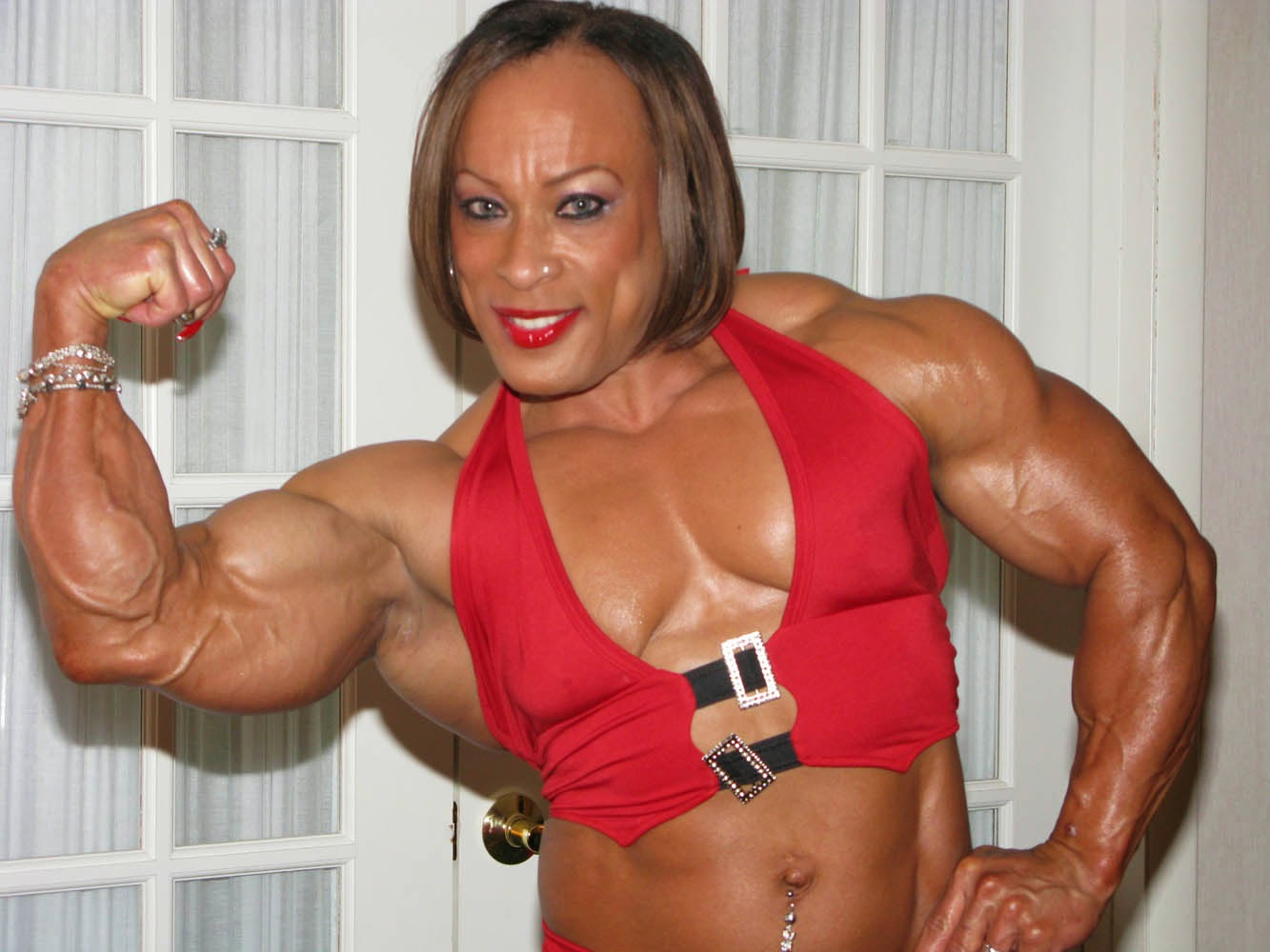 woman Black nude bodybuilder