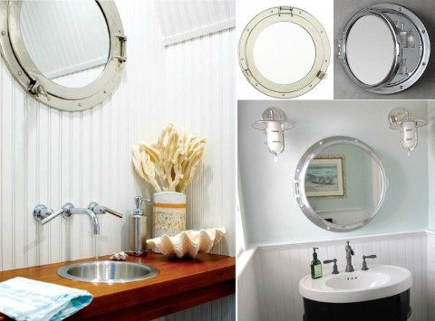 Porthole Mirrors For The Bathroom Coastal Decor Ideas