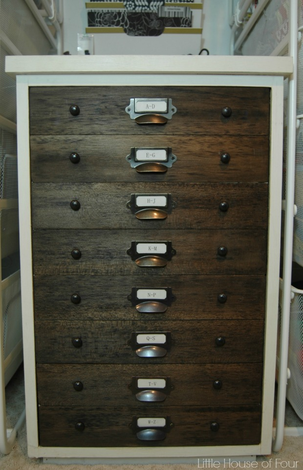 {Trash to Treasure} Turn an ordinary file cabinet into a faux specimen cabinet