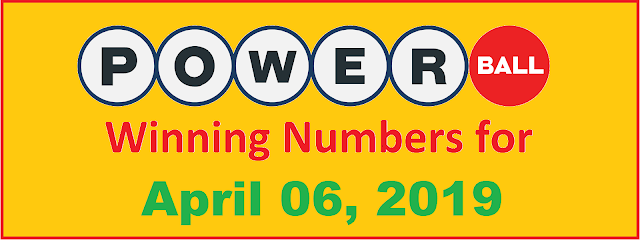 PowerBall Winning Numbers for Saturday, April 06, 2019
