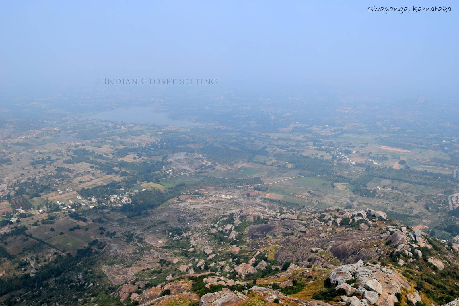 Bird View from Shivaganga Hill or shivaganga betta